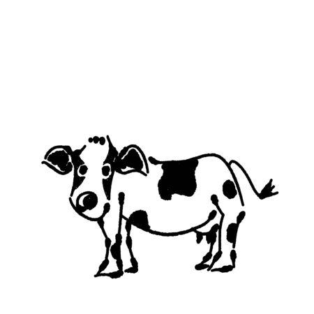 Hand-painted beef milk beef 写真素材