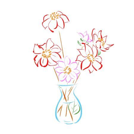 Flowers in glass vases