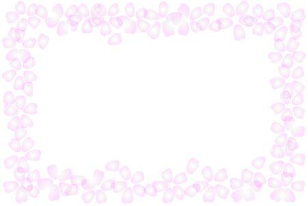 Cherry Blossom petals in full bloom Frame Vector