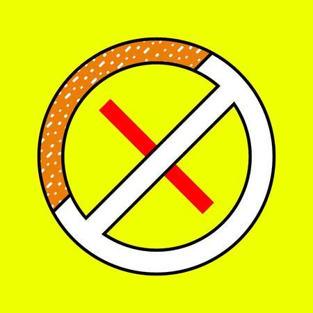 vector illustration sign smoke