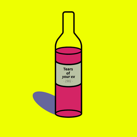 vector illustration wine tears of your ex