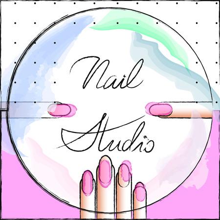 nail studio Ilustração