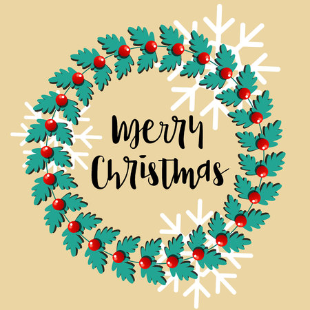 a vector illustration christmas wreath