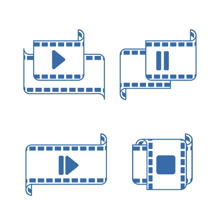 vector illustration: player icons on the white background