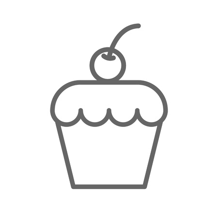 vector illustration: cake icon on the white background