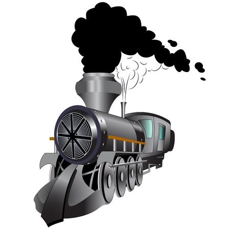 Train in steel color. Fully editable EPS 10 vector illustration. Vector Illustration