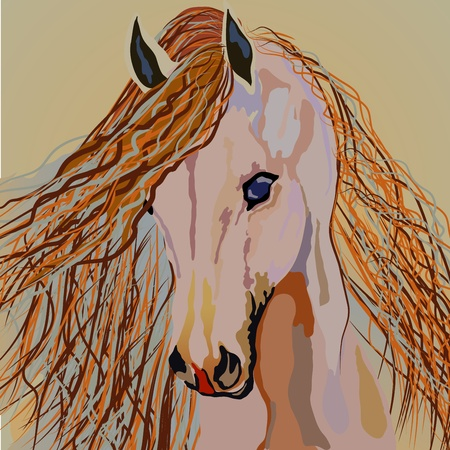 Horse on a brown background.  Fully editable EPS 10 vector illustration. Stock Vector - 19959229