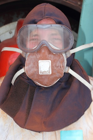 Industrial Cleaner wearing ppe