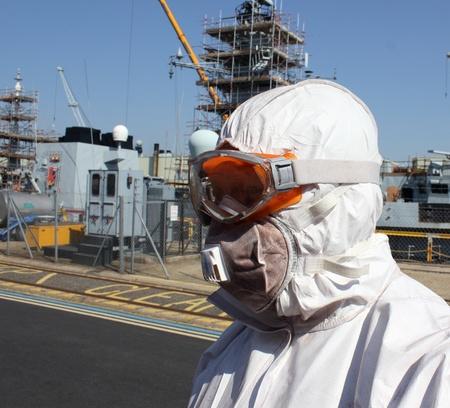 Industrial Worker wearing ppe Standard-Bild