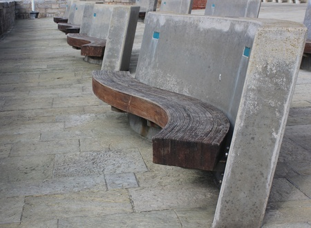 Modern Style Seating at Sallyport, Old Portsmouth Stock Photo - 17316862