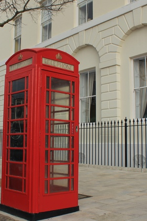 phonebox: an old traditional red phonebox at old portsmouth england Stock Photo