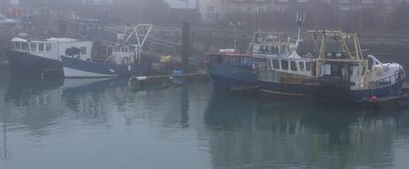 fishing fleet: Fishing fleet of portsmouth on a foggy day