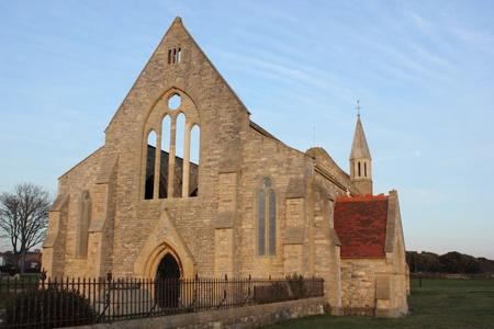bombed city: The bomb damaged garrison church of portsmouth Stock Photo