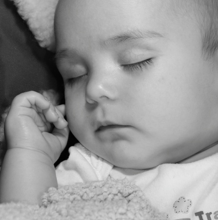 dream land: a little baby boy in dream land Stock Photo