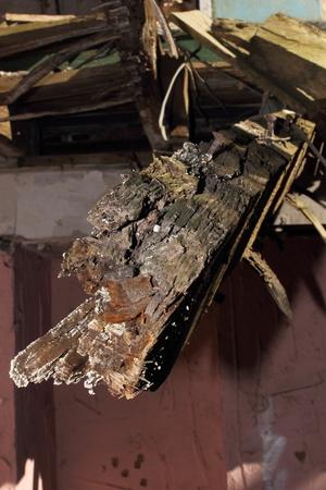 Rotten Wooden Joist Stock Photo - 17316861