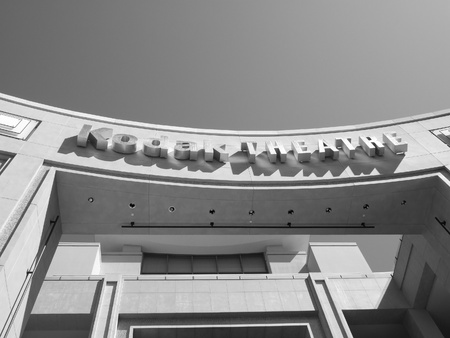 kodak: 10th may 2007,Kodak Theatre in hollywood in black & white,10th may 2007