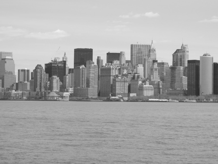 newyork: 7th may 2007,The NewYork skyline in black & white,NewYork,America,7th may 2007