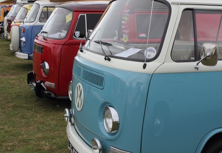 Old classic Retro vans at a show in portsmouth england on the 12th august 2012
