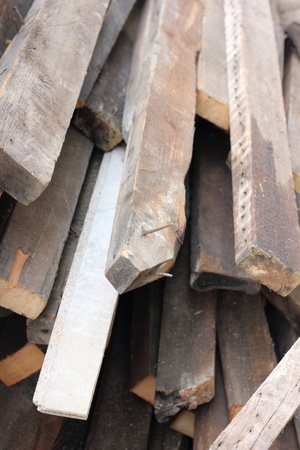 Old timber in a skip ready for recycling Stock Photo - 17398322