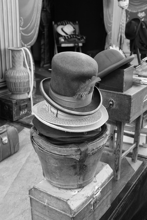 Victorian hats & props for a showman at portsmouth dockyard,1st december 2012 Stock Photo - 17435974