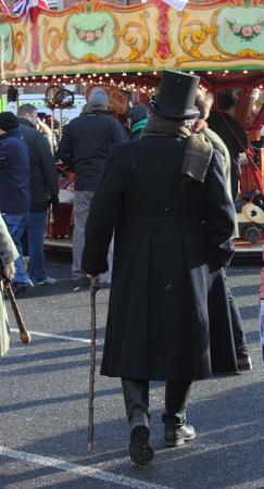 A victorian gentleman at a fair in portsmouth dockyard, 1st december 2012