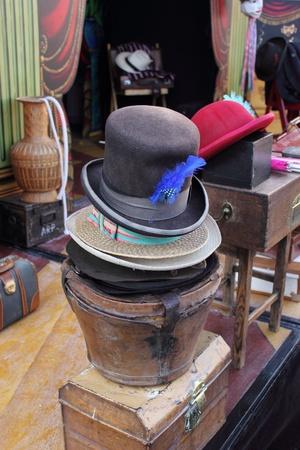 showman: Sombreros victorianos y decorados para un showman en el astillero de Portsmouth, 01 de diciembre 2012 Editorial