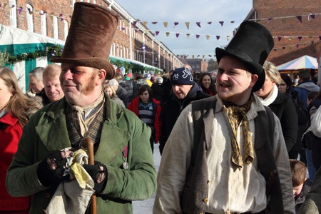 a christmas fair in portsmouth dockyard,1st december 2012