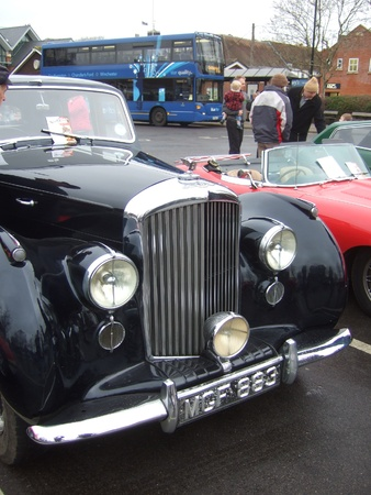old Vintage & classic cars at a show in romsey, england on the 26th december 2011 Stock Photo - 17808236
