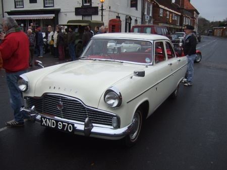 old Vintage & classic cars at a show in romsey, england on the 26th december 2011