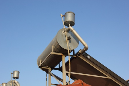 solar water heaters Stock Photo
