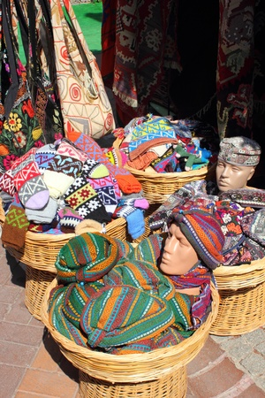 Textiles and fabrics for sale at a Turkish bazaar Stock Photo - 17665189