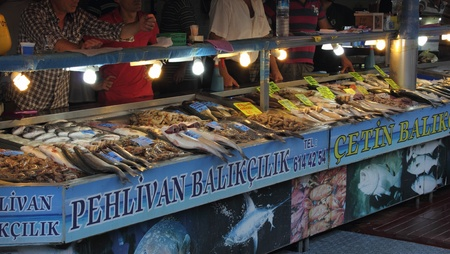 A fish market Turkey, August 2012 Stock Photo - 17838318