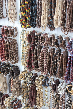 braclets: Beads and braclets on a market stall