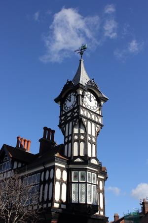 portsmouth: A clock tower from tudor times at portsmouth, england