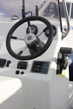 motorboats: A motorboats steering gear