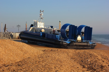 Passenger hovercraft from portsmouth to the isle of wight,2012 Stock Photo - 17696473