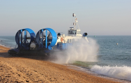 Passenger hovercraft from portsmouth to the isle of wight,2012 Stock Photo - 17696441