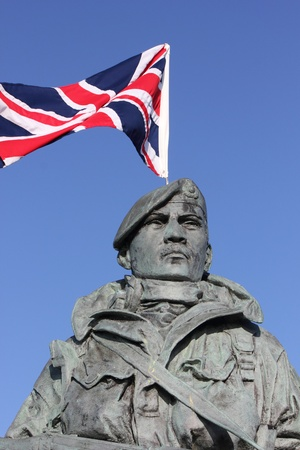 The royal marine s statue flying the union jack flag Stock Photo - 17696462