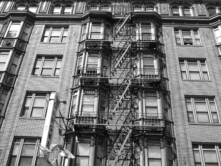 An old American building in NewYork in black and white Stock Photo - 17767550