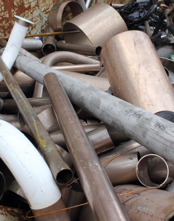 scrap heap: Scrap Metal Stock Photo