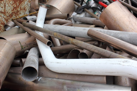ferrous: Scrap Metal Stock Photo