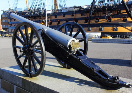 hms: Military field gun Stock Photo