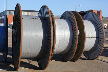 Large cable drums photo