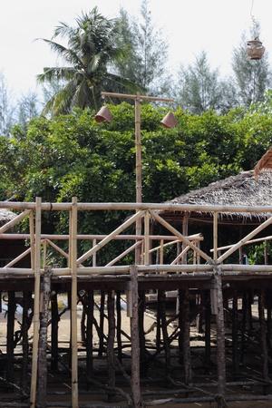 A bamboo walkway at khao lak beach in thailand Stock Photo - 17941090