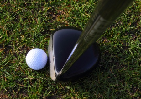 a golf ball in the grass ready to be hit Stock Photo - 18023068
