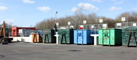 One of the many Industrial plants for recycling of waste photo