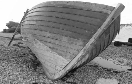 clinker: An old clinker built wooden boat