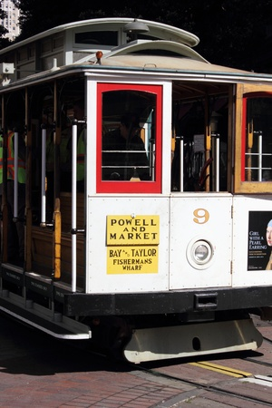 The famous cable cars of San Francisco, 2nd april 2013