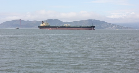 Tanker in the San francisco bay, march 2013