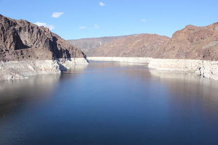 The famous Hoover Dam, between Arizona and Nevada - USA, april 2013 photo